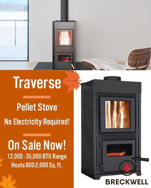 The Traverse Pellet Stove, No electricity required